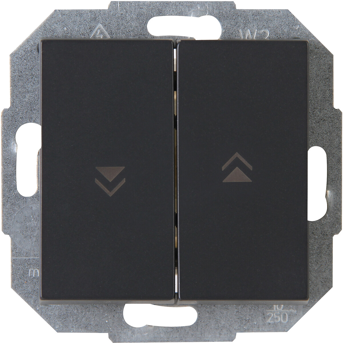 KOPP - Jalouzieschakelaar - Athenis - Inbouw - 1-voudig Dubbel Schakelaar - Mat Antraciet