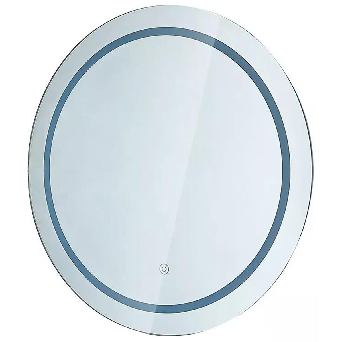 LED Badkamerspiegel - Viron Mirron - Ø60cm - Rond - Anti Condens - Touch Schakelaar - Aanpasbare Kle