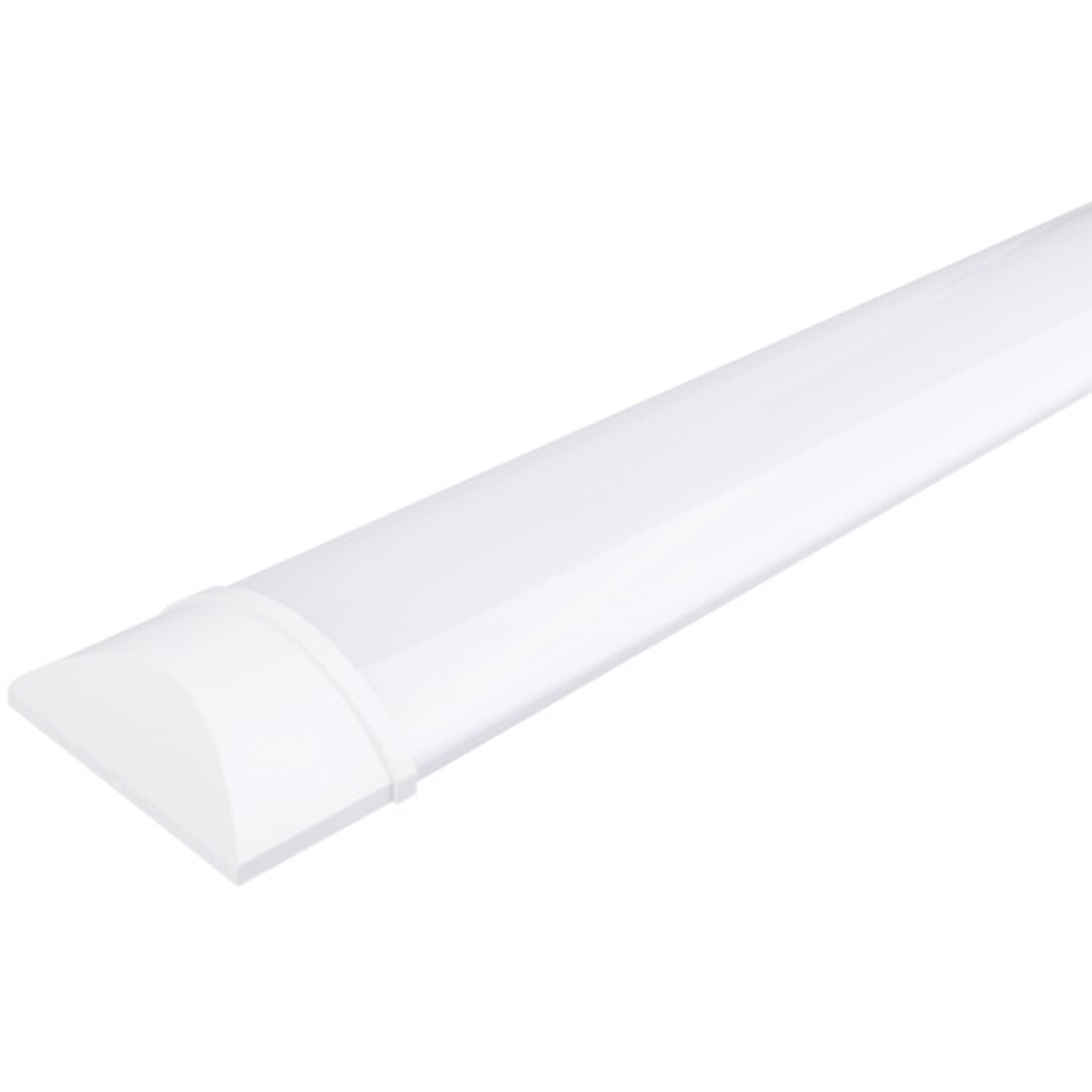 LED Balk - Aigi Tynom - 30W - Helder/Koud Wit 6000K - Mat Wit - Kunststof - 90cm