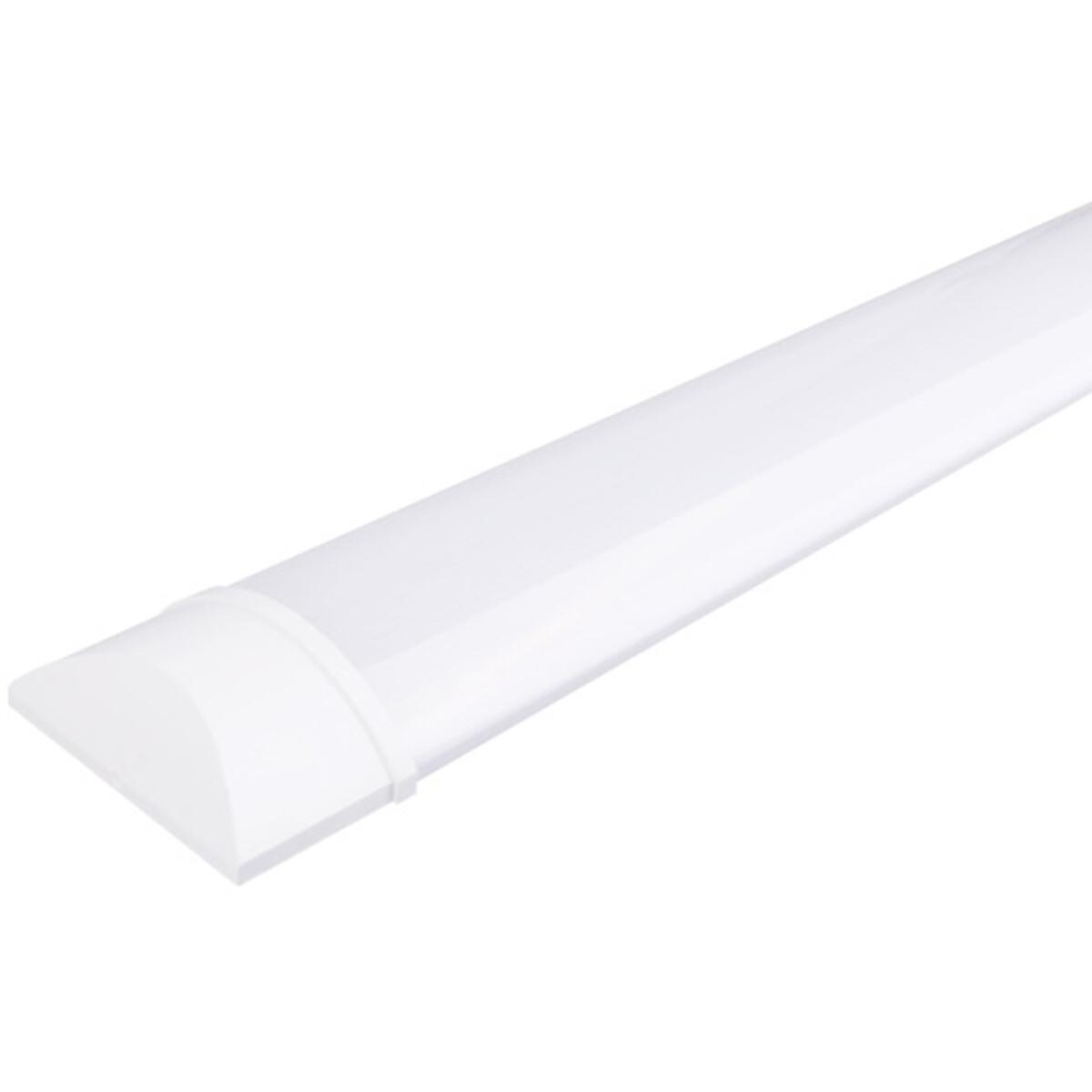 LED Balk - Aigi Tynom - 50W - Helder/Koud Wit 6000K - Mat Wit - Kunststof - 150cm