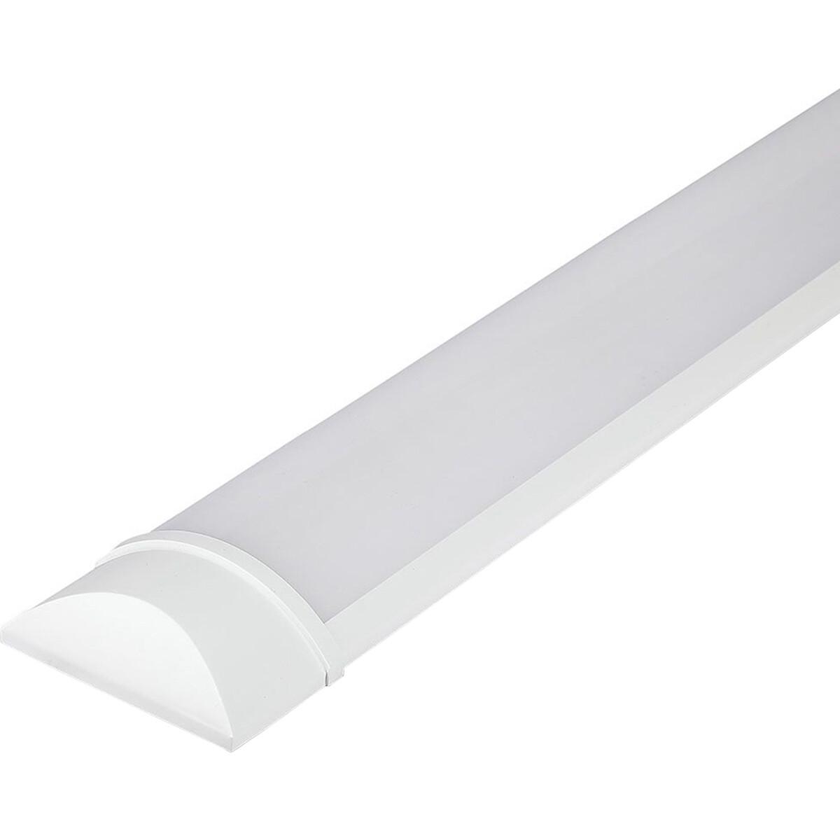 LED Balk - Viron Kilas - 15W High Lumen - Helder/Koud Wit 6400K - Mat Wit - Kunststof - 60cm