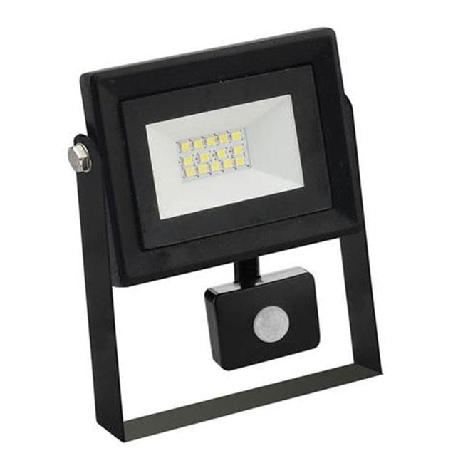 LED Bouwlamp 10 Watt met sensor - LED Schijnwerper - Pardus - Helder/Koud Wit 6400K - Waterdicht IP6