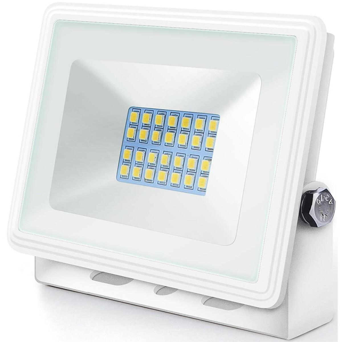 LED Bouwlamp 20 Watt - LED Schijnwerper - Aigi Iglo - Natuurlijk Wit 4000K - Waterdicht IP65 - Mat W