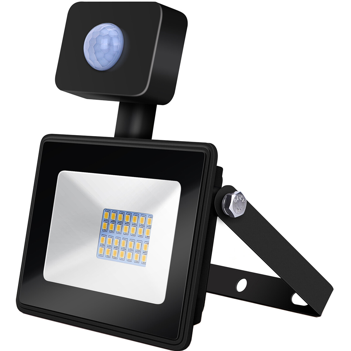 LED Bouwlamp 20 Watt met Sensor - LED Schijnwerper - Aigi Sunny - Natuurlijk Wit 4000K - Waterdicht