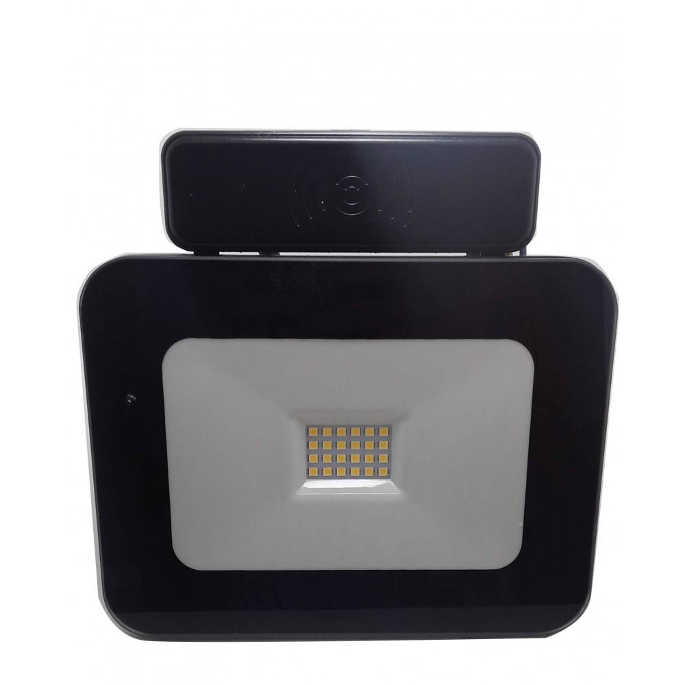 LED Bouwlamp - Facto - 20 Watt met sensor - LED Schijnwerper - Dimbaar - Natuurlijk Wit 4000K - Wate