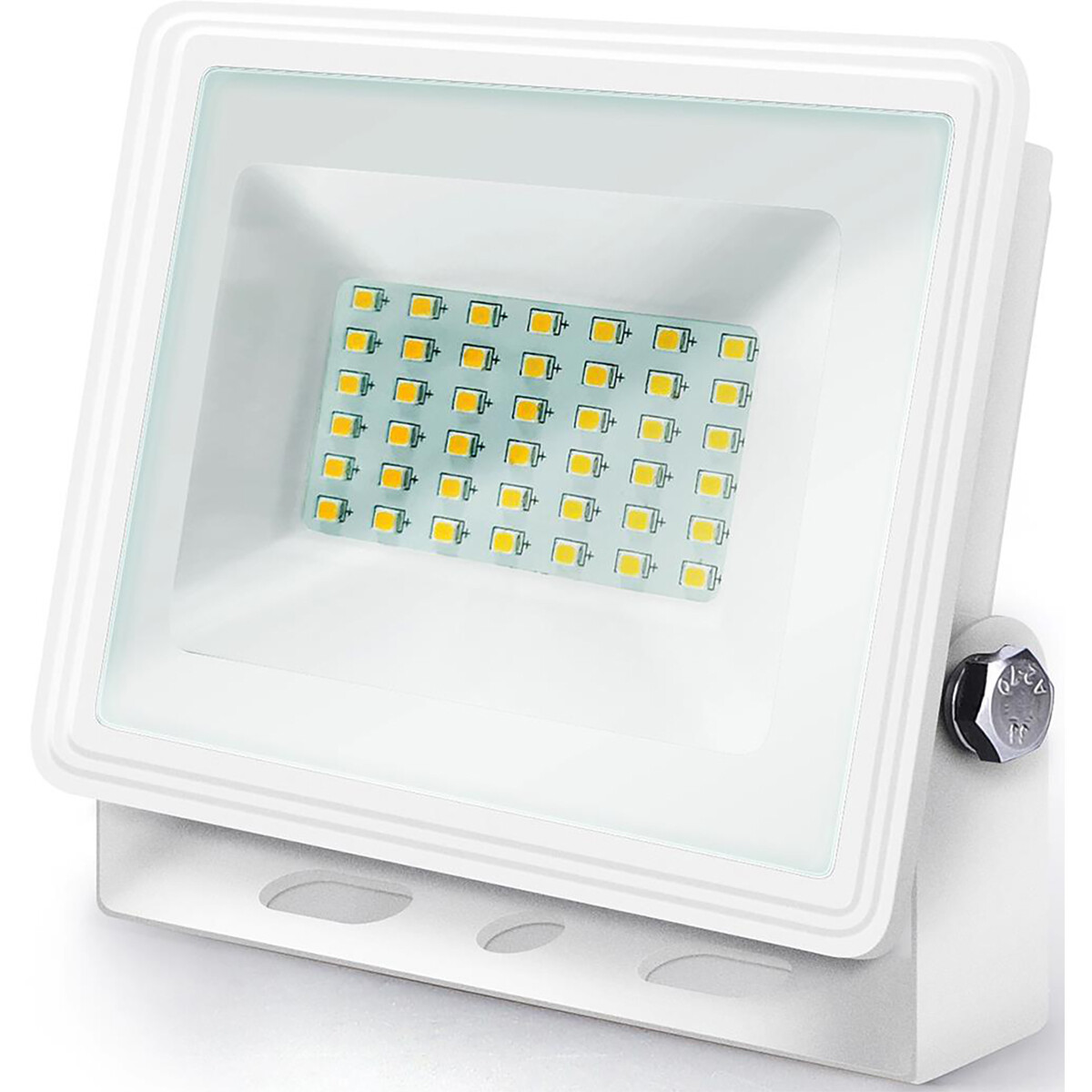 LED Bouwlamp 30 Watt - LED Schijnwerper - Aigi Iglo - Natuurlijk Wit 4000K - Waterdicht IP65 - Mat W