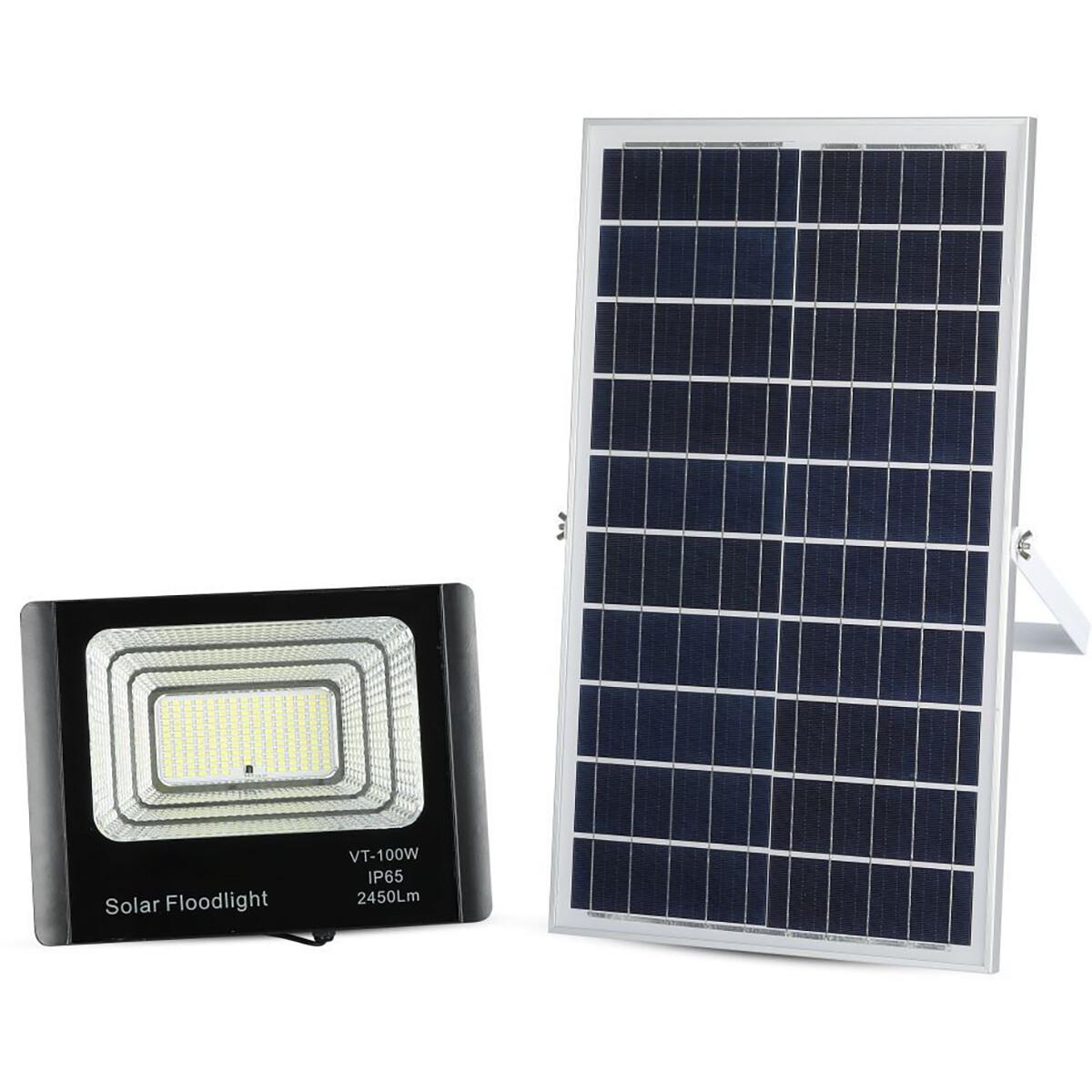 LED Bouwlamp 35 Watt met Zonne-Energie Incl. Afstandsbediening - LED Schijnwerper - Natuurlijk Wit 4
