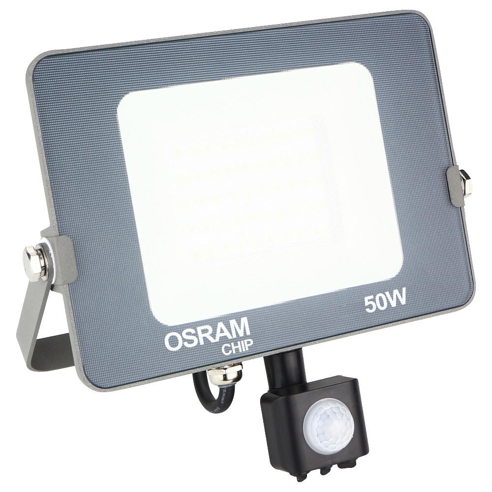OSRAM - LED Bouwlamp 50 Watt met sensor - LED Schijnwerper - Natuurlijk Wit 4000K - Waterdicht IP65