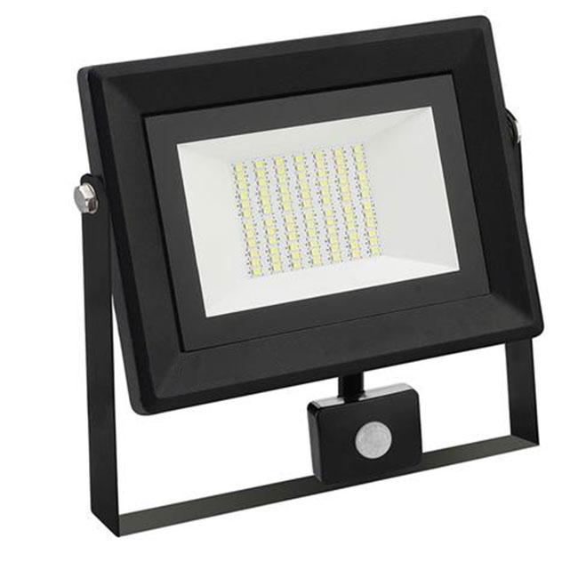 LED Bouwlamp 50 Watt met sensor - LED Schijnwerper - Pardus - Helder/Koud Wit 6400K - Waterdicht IP6