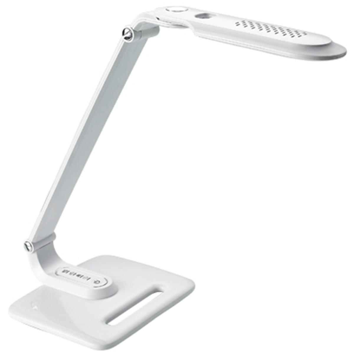 LED Bureaulamp - Aigi Eindy - 8W - Natuurlijk Wit 5000K - Dimbaar - Mat Wit
