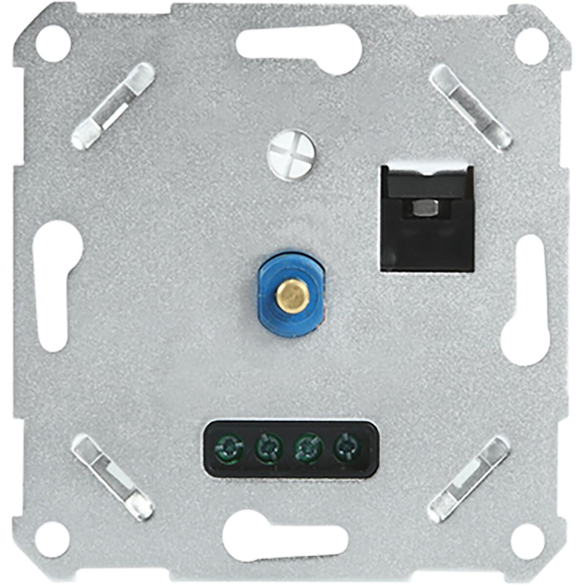 LED Dimmer - Varnix Dimo - Fase Afsnijding RC - Inbouw - Enkel Knop - 3-200W