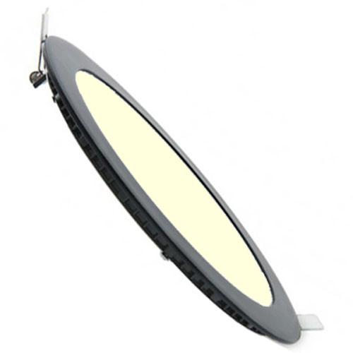 LED Downlight Slim - Inbouw Rond 6W - Dimbaar - Warm Wit 3000K - Mat Zwart Aluminium - Ø120mm