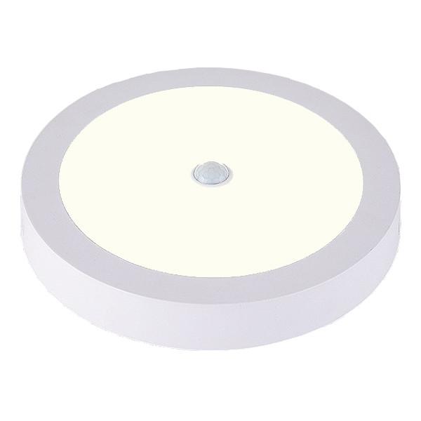 LED Downlight - Facto - PIR Bewegingssensor 360° - Opbouw Rond 20W UGR19 - Natuurlijk Wit 4000K - Ma