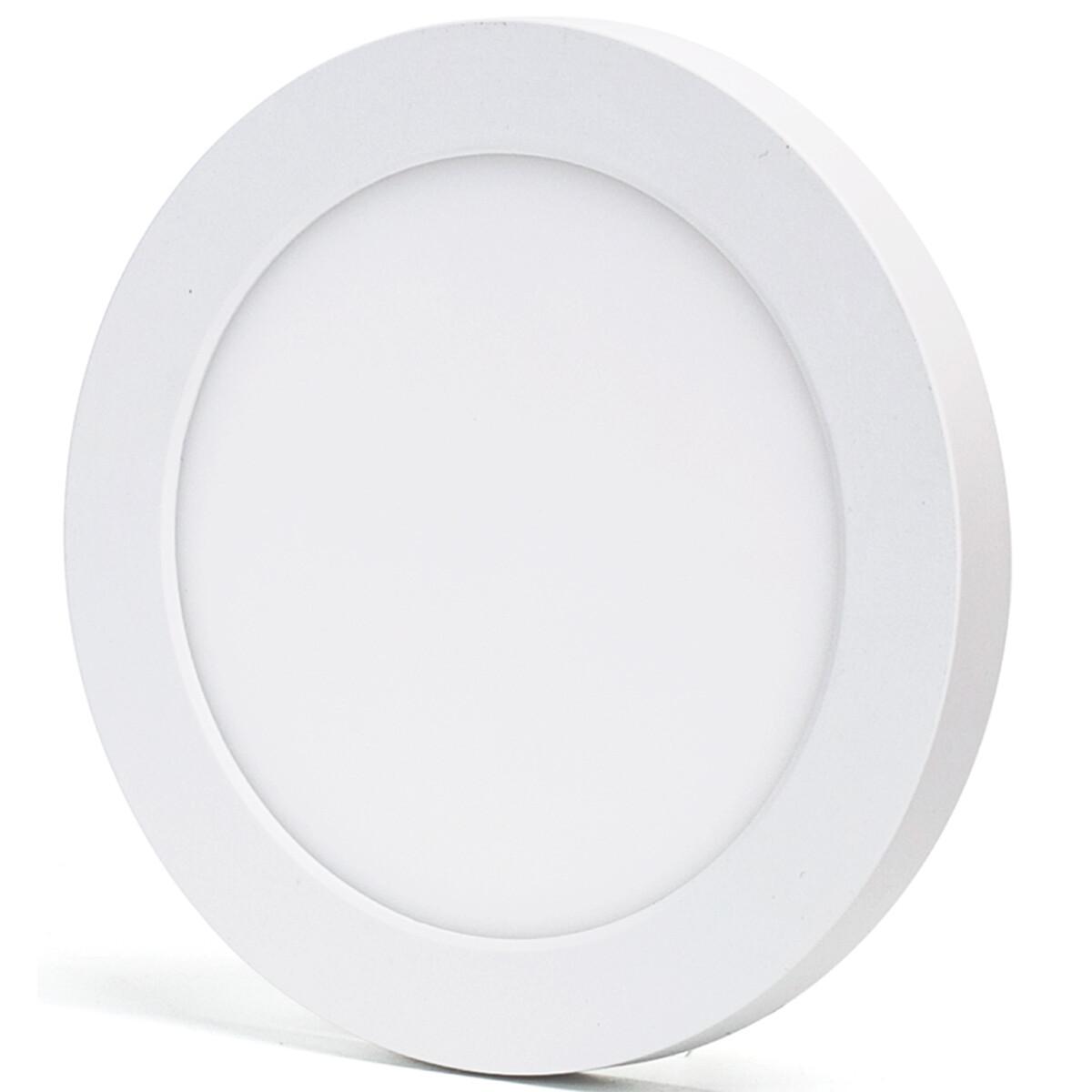 LED Downlight Pro - Aigi Foka - Inbouw/Opbouw - Rond - 12W - Aanpasbare Kleur CCT - Mat Wit - Kunststof