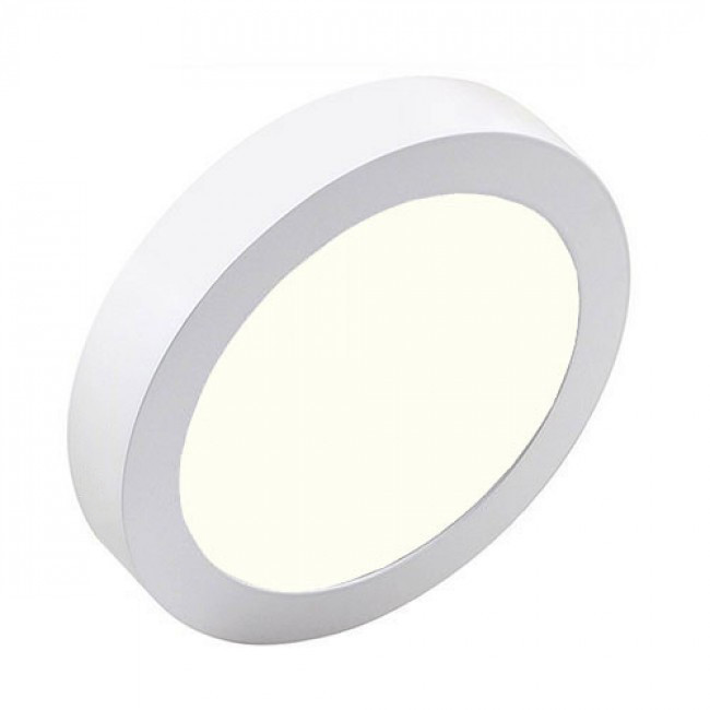 LED Downlight Pro - Aigi - Opbouw Rond 12W - Natuurlijk Wit 4000K - Mat Wit - Ø177mm