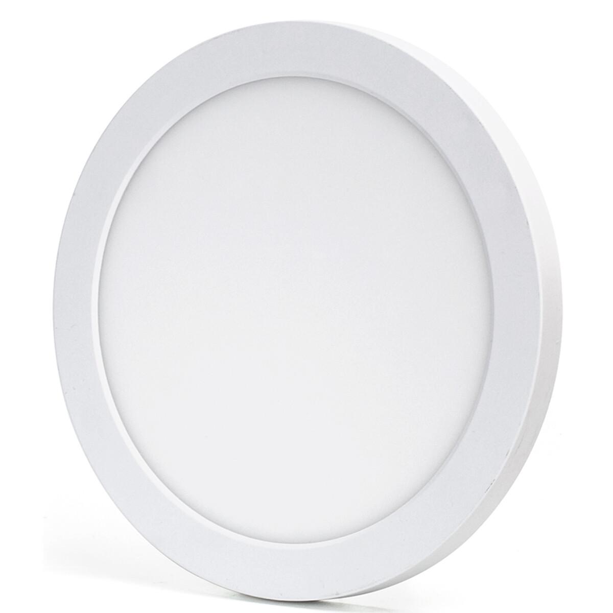 LED Downlight Pro - Aigi Foka - Inbouw/Opbouw - Rond - 18W - Aanpasbare Kleur CCT - Mat Wit - Kunststof