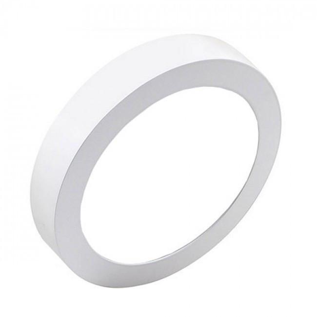 LED Downlight Pro - Aigi - Opbouw Rond 20W - Helder/Koud Wit 6000K - Mat Wit - Ø247mm
