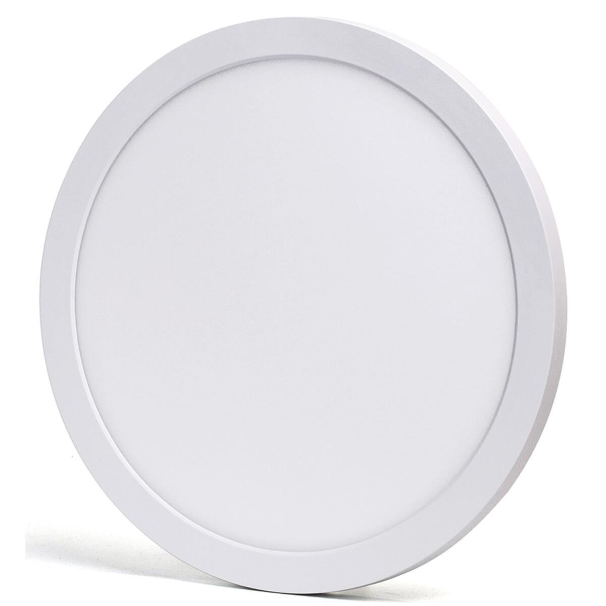 LED Downlight Pro - Aigi Foka - Inbouw/Opbouw - Rond - 24W - Aanpasbare Kleur CCT - Mat Wit - Kunststof