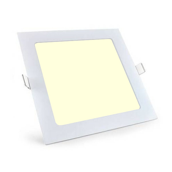 LED Downlight Slim Pro - Aigi - Inbouw Vierkant 18W - Warm Wit 3000K - Mat Wit - 220mm