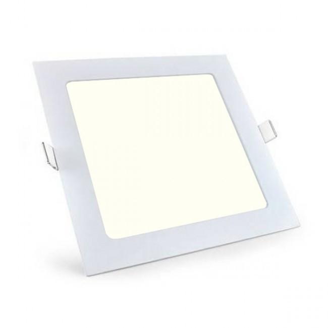 LED Downlight Slim - Aigi - Inbouw Vierkant 6W - Natuurlijk Wit 4000K - Mat Wit - 115mm