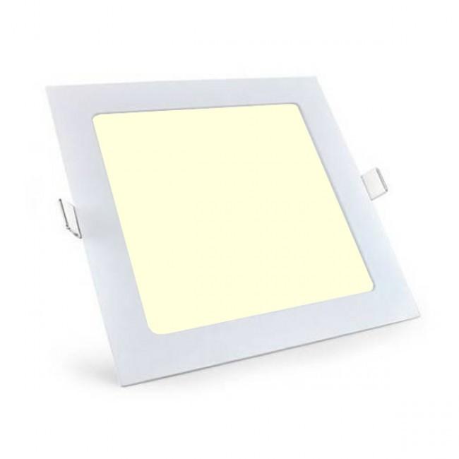 LED Downlight Slim - Aigi - Inbouw Vierkant 6W - Warm Wit 3000K - Mat Wit - 115mm