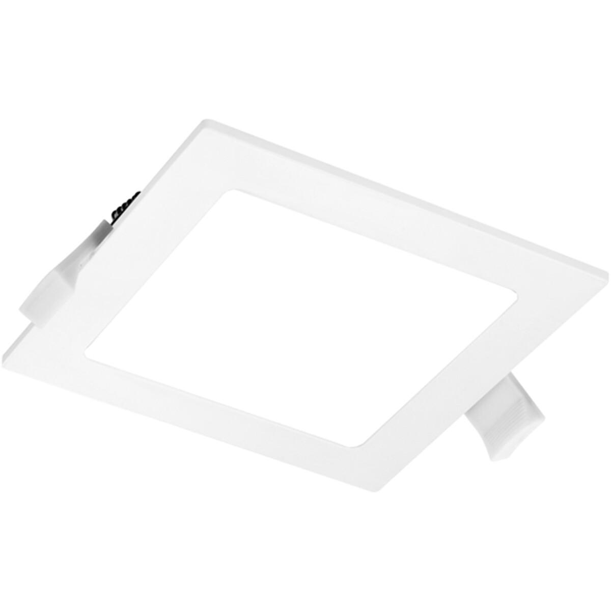LED Downlight Slim Pro - Aigi Suno - Inbouw Vierkant 12W - Helder/Koud Wit 6000K - Mat Wit - Kunstst