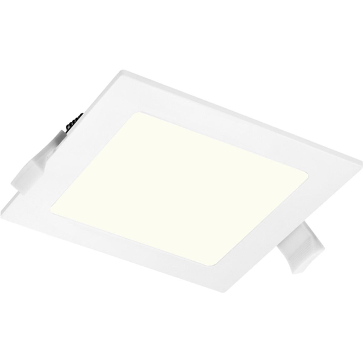 LED Downlight Slim Pro - Aigi Suno - Inbouw Vierkant 6W - Natuurlijk Wit 4000K - Mat Wit - Kunststof