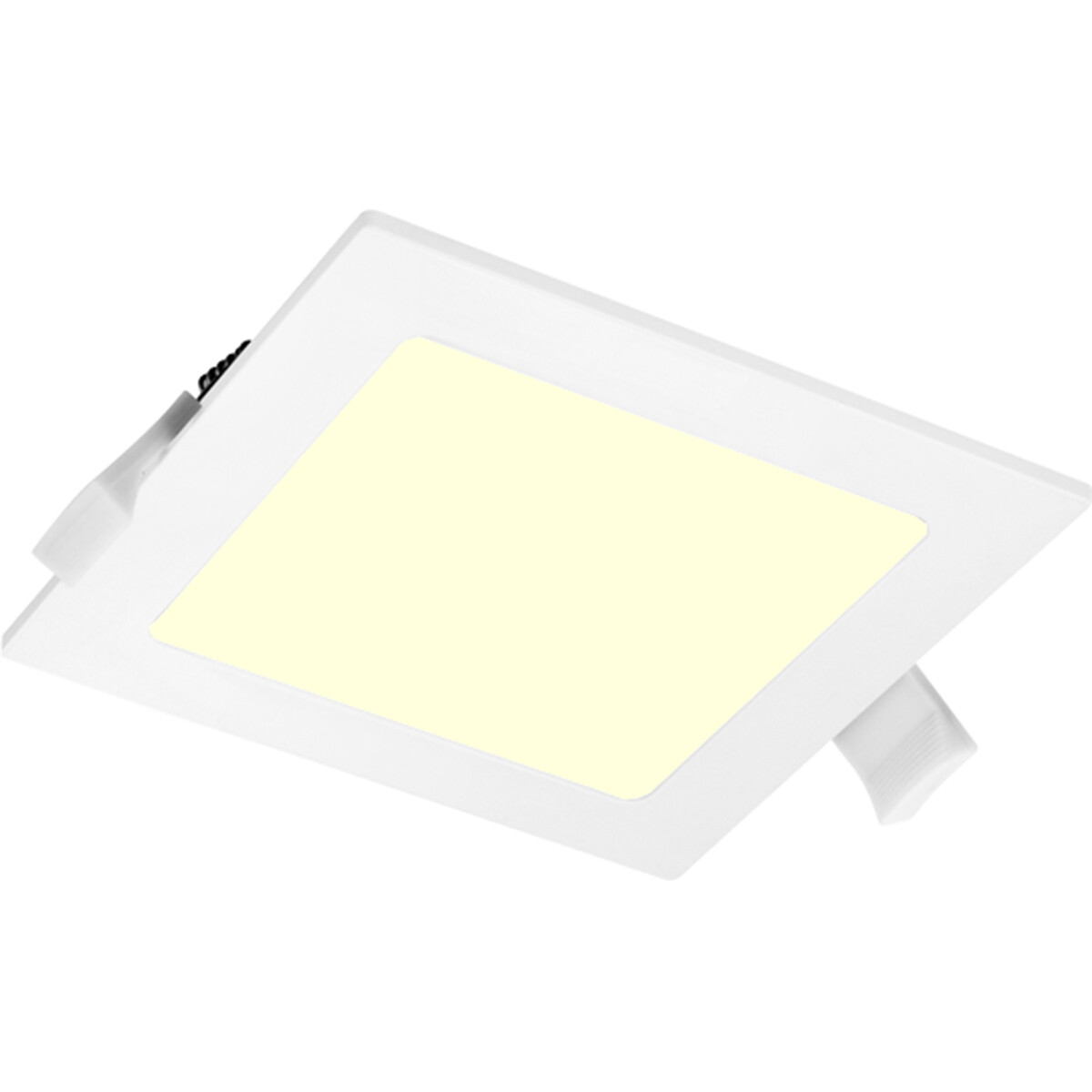 LED Downlight Slim Pro - Aigi Suno - Inbouw Vierkant 9W - Warm Wit 3000K - Mat Wit - Kunststof