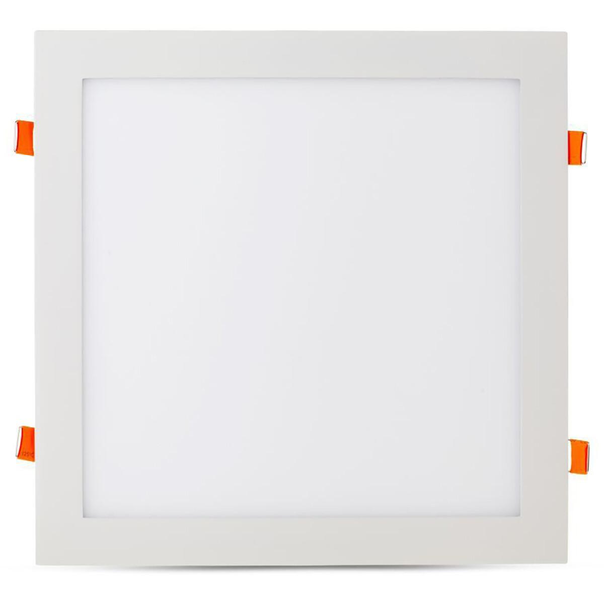 LED Downlight Slim - Viron Xisus - Inbouw Vierkant 24W - Helder/Koud Wit 6400K - Mat Wit - Aluminium