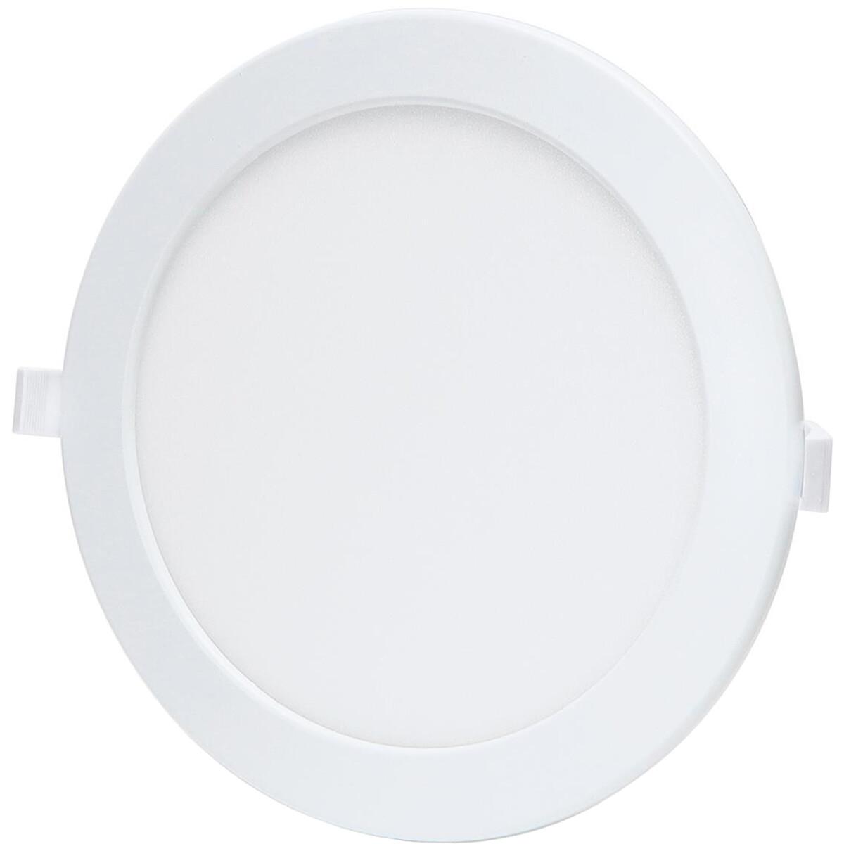 LED Downlight - Smart LED - Aigi Zumba - 18W - Aanpasbare Kleur - Inbouw Rond - Mat Wit - Aluminium