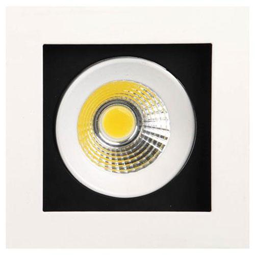 LED Spot - Inbouwspot - Vierkant 8W - Helder/Koud Wit 6400K - Mat Wit Aluminium - Kantelbaar 100mm