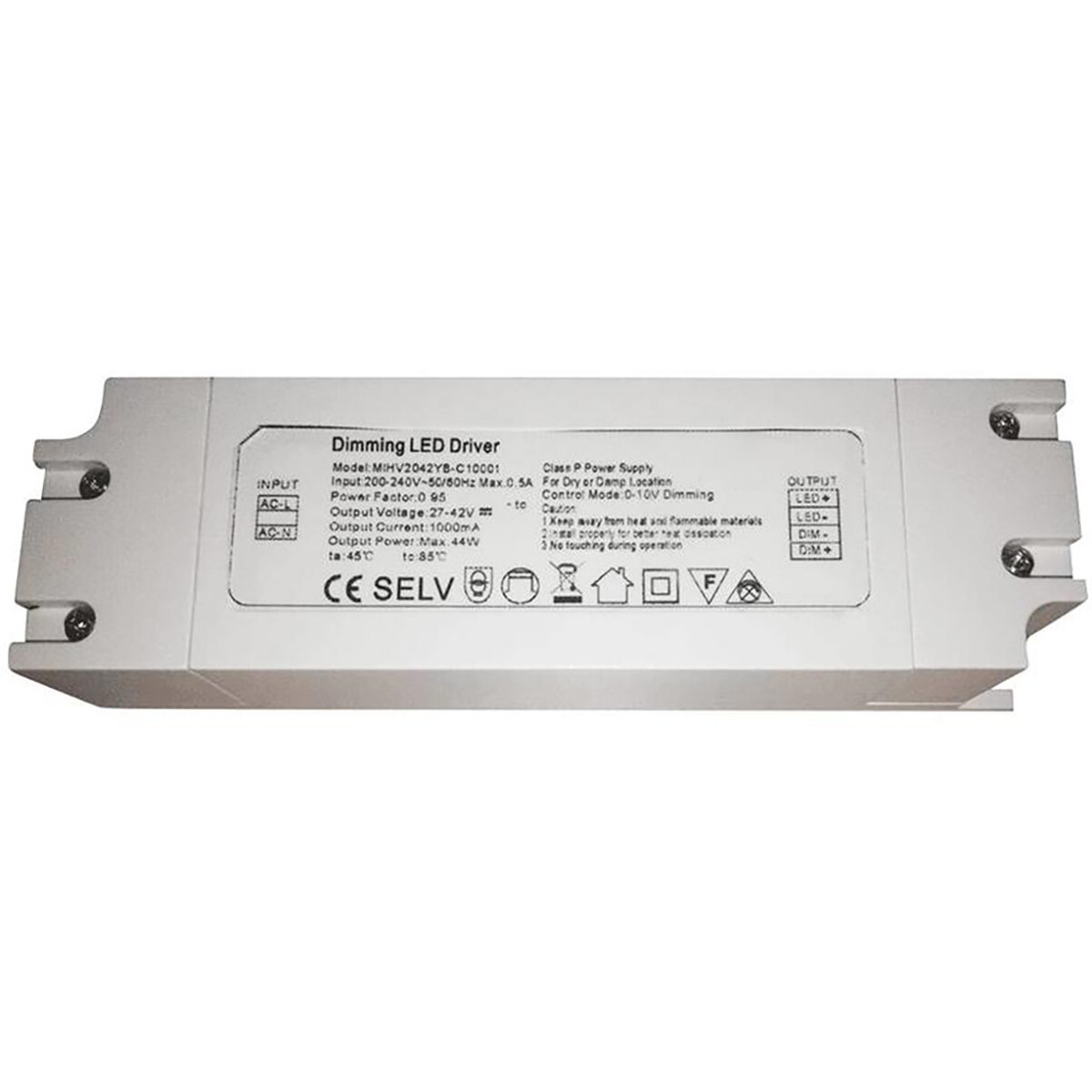 LED Driver - Aigi - Dimbaar - 40W - 1-10V