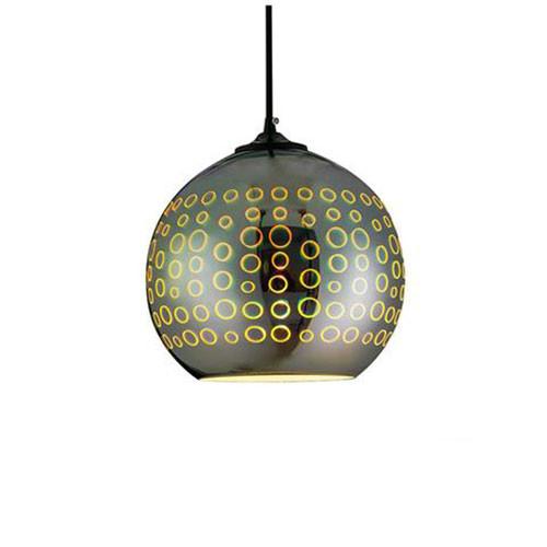 LED Hanglamp 3D - Radus - Rond - Chroom Glas - E27