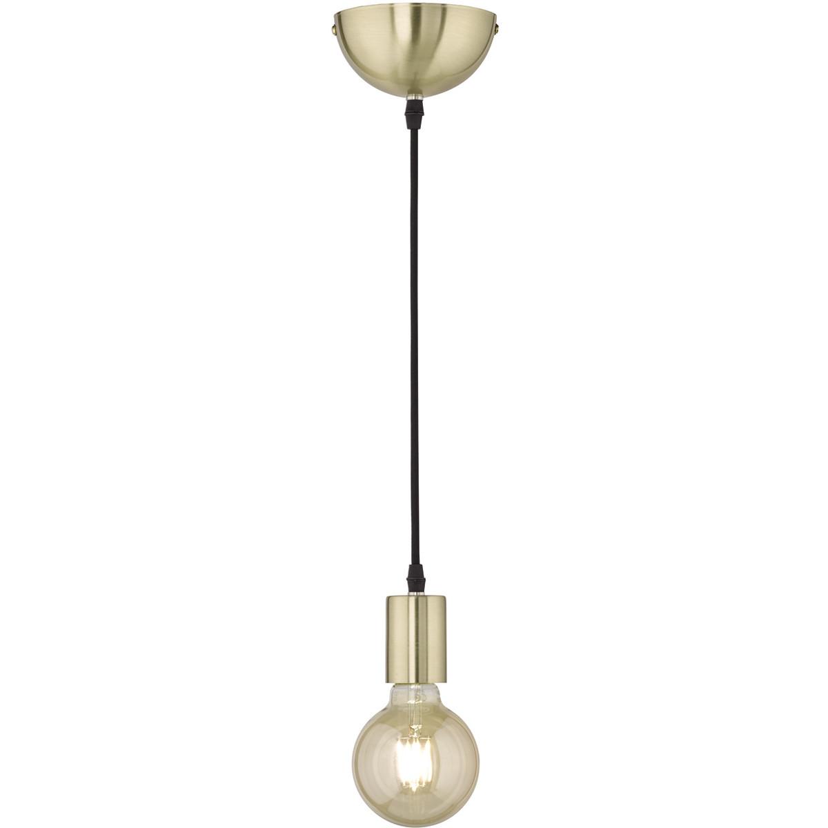 LED Hanglamp - Hangverlichting - Trion Cardino - E27 Fitting - 1-lichts - Rond - Mat Goud - Aluminiu
