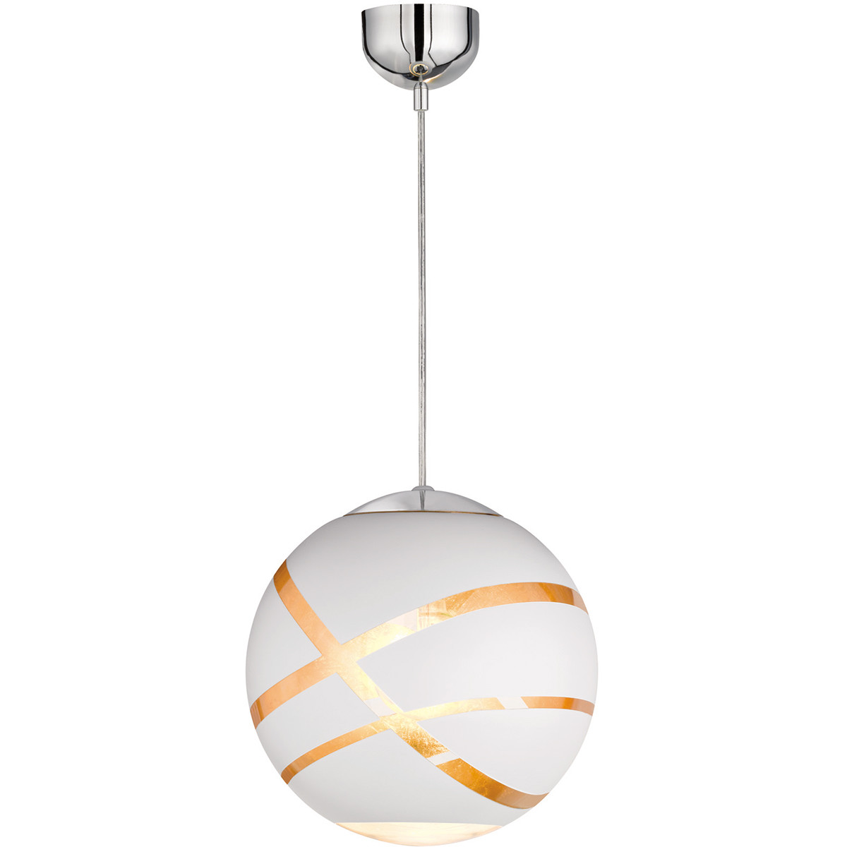 LED Hanglamp - Hangverlichting - Trion Fary - E27 Fitting - 1-lichts - Rond - Mat Wit - Glas