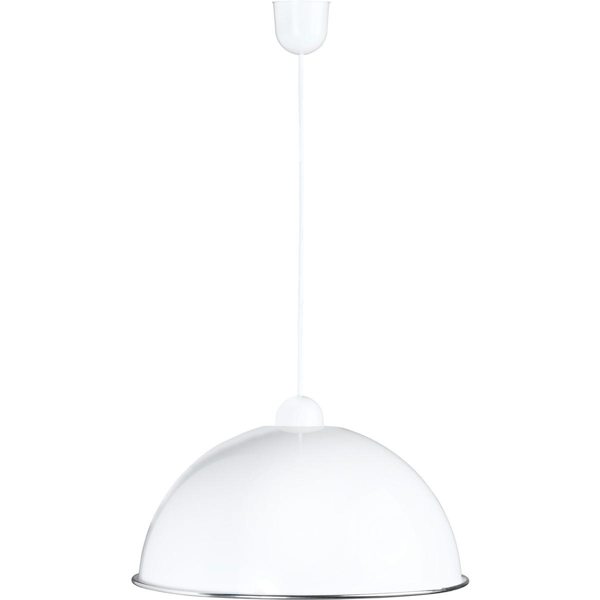 LED Hanglamp - Hangverlichting - Trion Fonko - E27 Fitting - Rond - Mat Wit - Kunststof