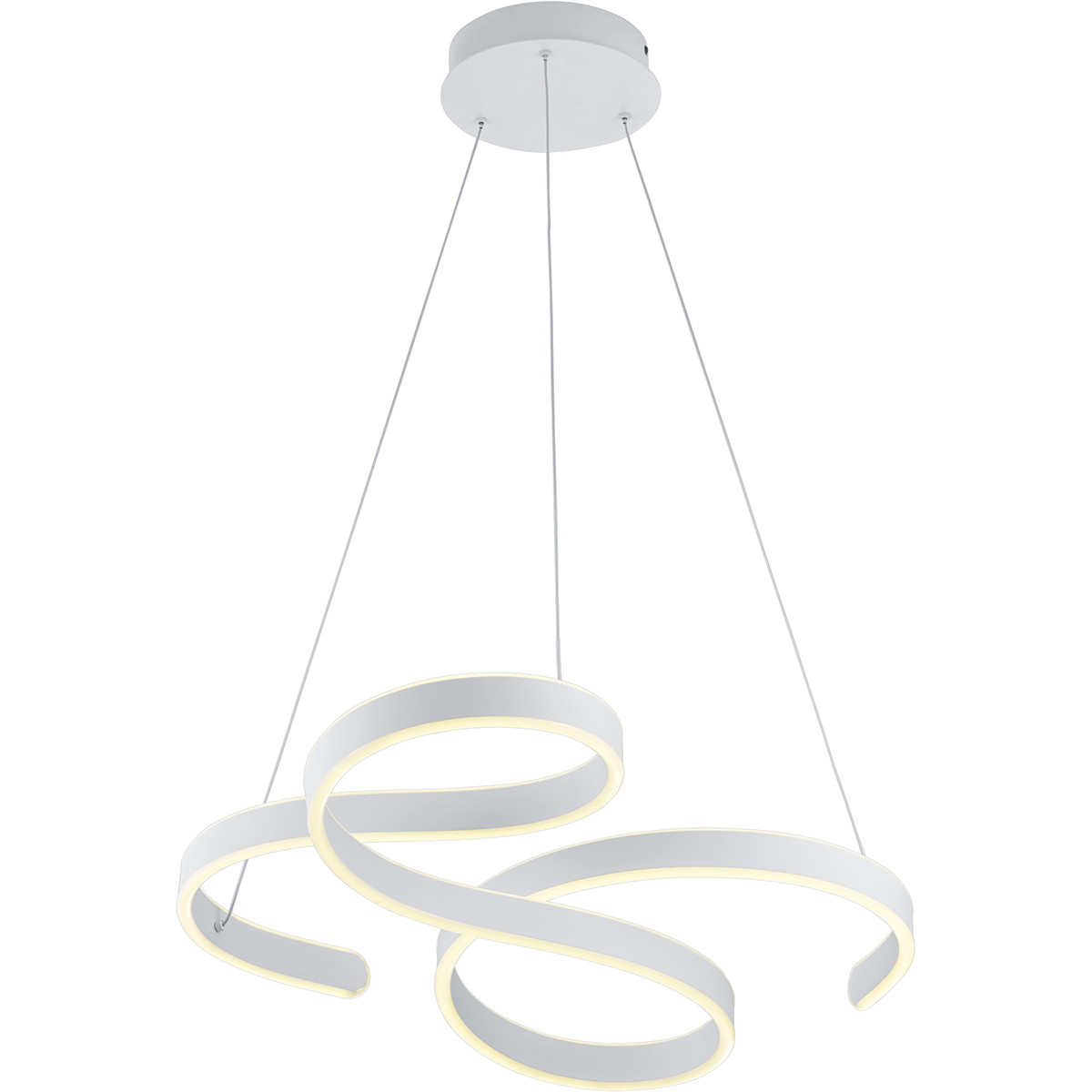 LED Hanglamp - Hangverlichting - Trion Frinco - 52W - Warm Wit 3000K - Dimbaar - Rond - Mat Wit - Al