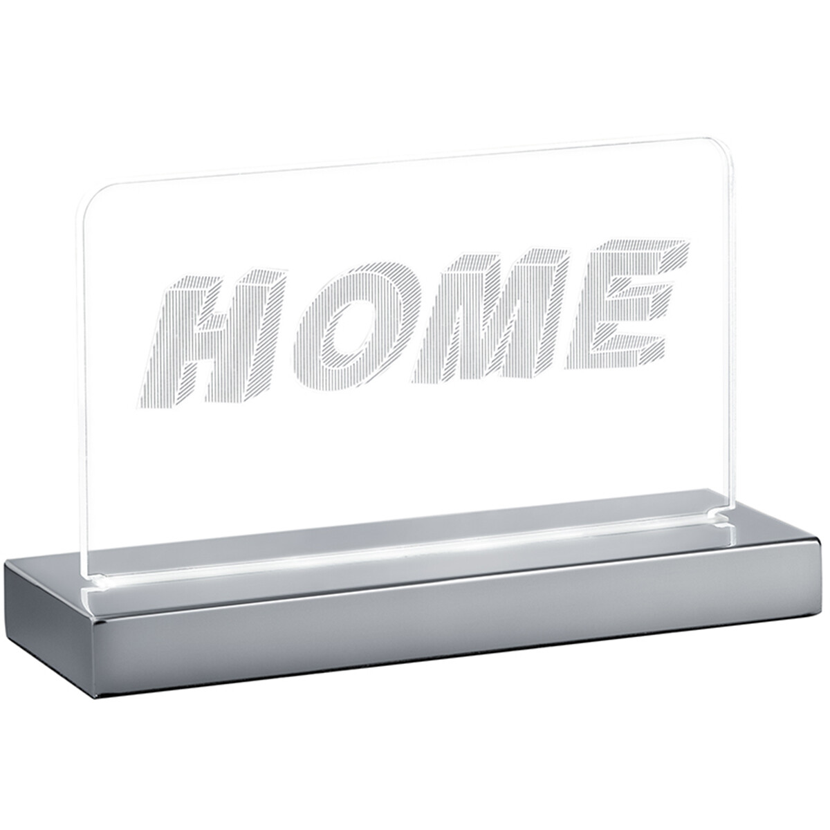 LED Hanglamp - Hangverlichting - Trion Hamilton - 7W - Aanpasbare Kleur - Rechthoek - Mat Chroom - Aluminium