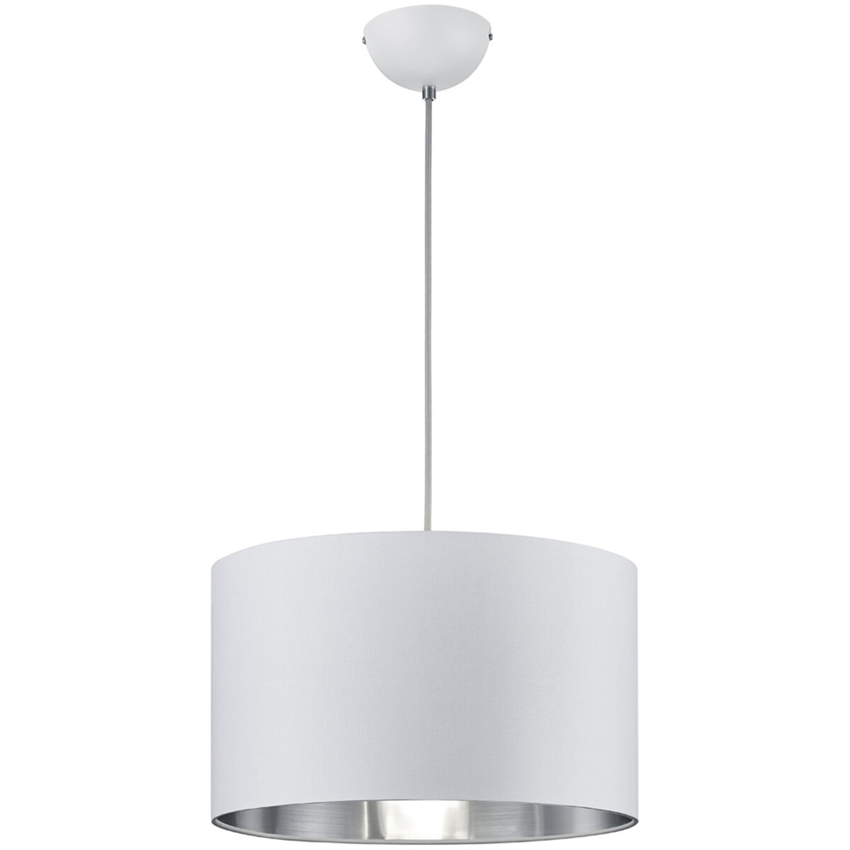 LED Hanglamp - Hangverlichting - Trion Hostons - E27 Fitting - Rond - Mat Wit - Textiel