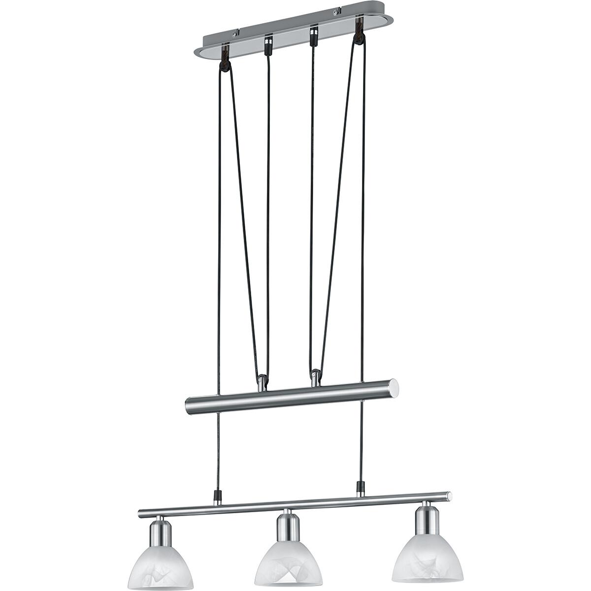 LED Hanglamp - Hangverlichting - Trion Levino - E14 Fitting - Warm Wit 3000K - 3-lichts - Rechthoek