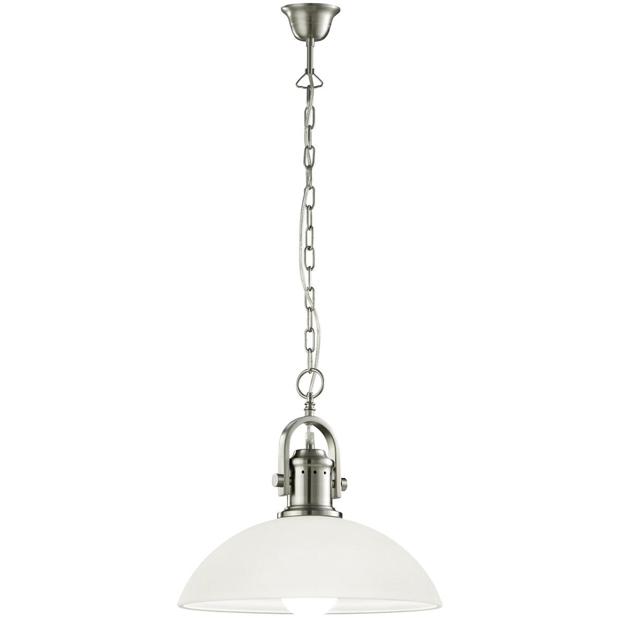 LED Hanglamp - Hangverlichting - Trion Montino - E27 Fitting - Rond - Mat Nikkel - Aluminium