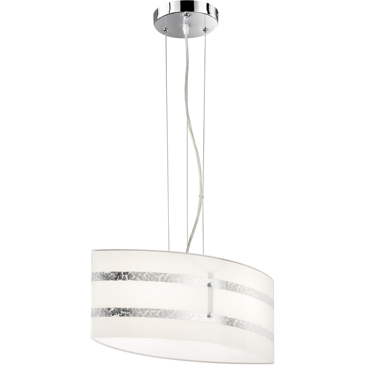 LED Hanglamp - Hangverlichting - Trion Niki - E27 Fitting - 1-lichts - Rechthoek - Mat Zilver - Alum