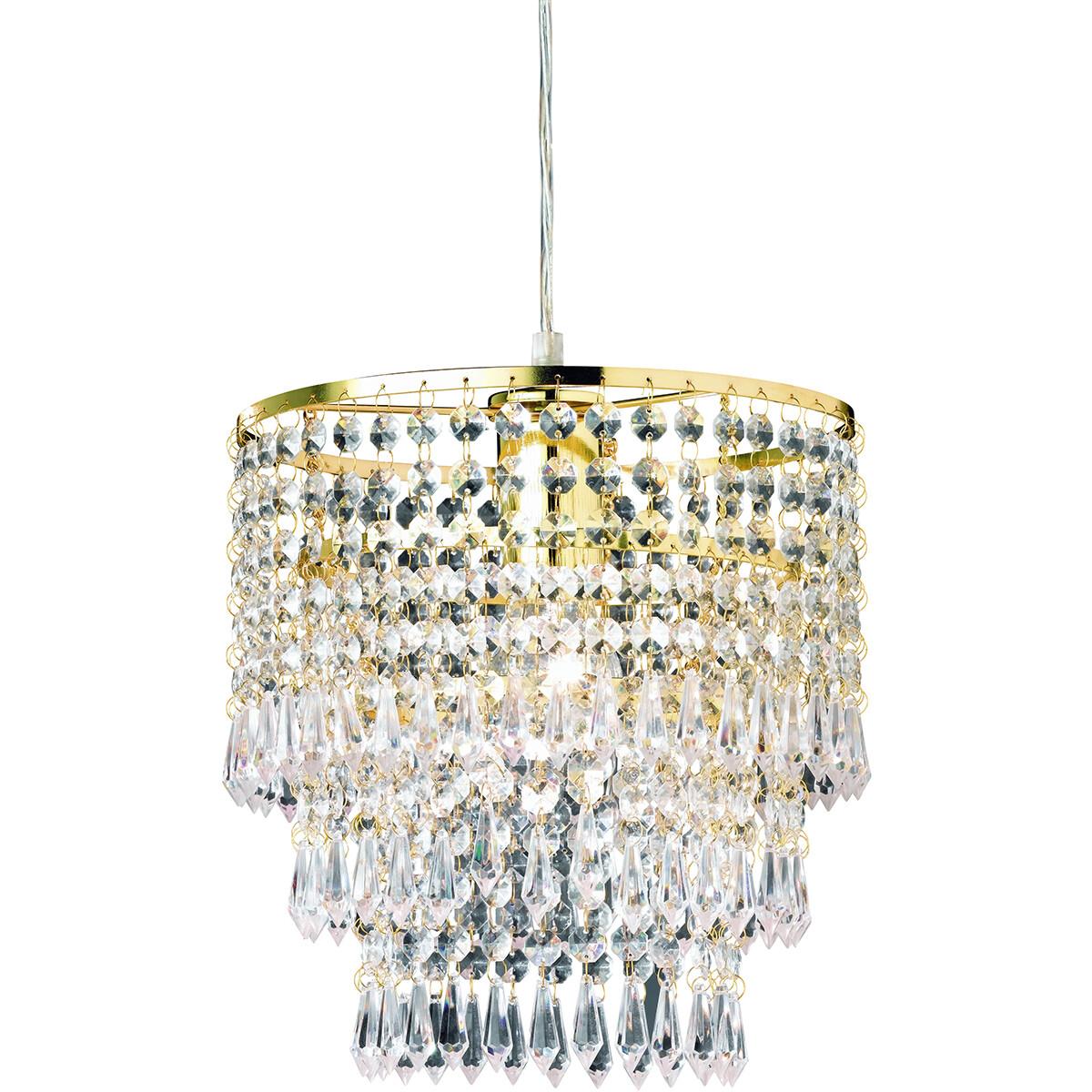 LED Hanglamp - Hangverlichting - Trion Oranta - E27 Fitting - 1-lichts - Rond - Mat Goud - Aluminium