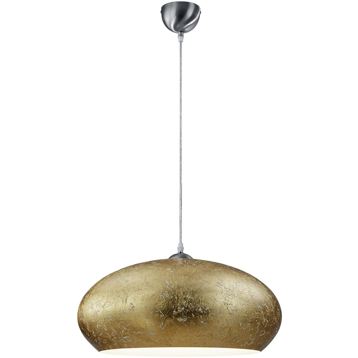 LED Hanglamp - Hangverlichting - Trion Otarino - E27 Fitting - Rond - Mat Nikkel - Aluminium
