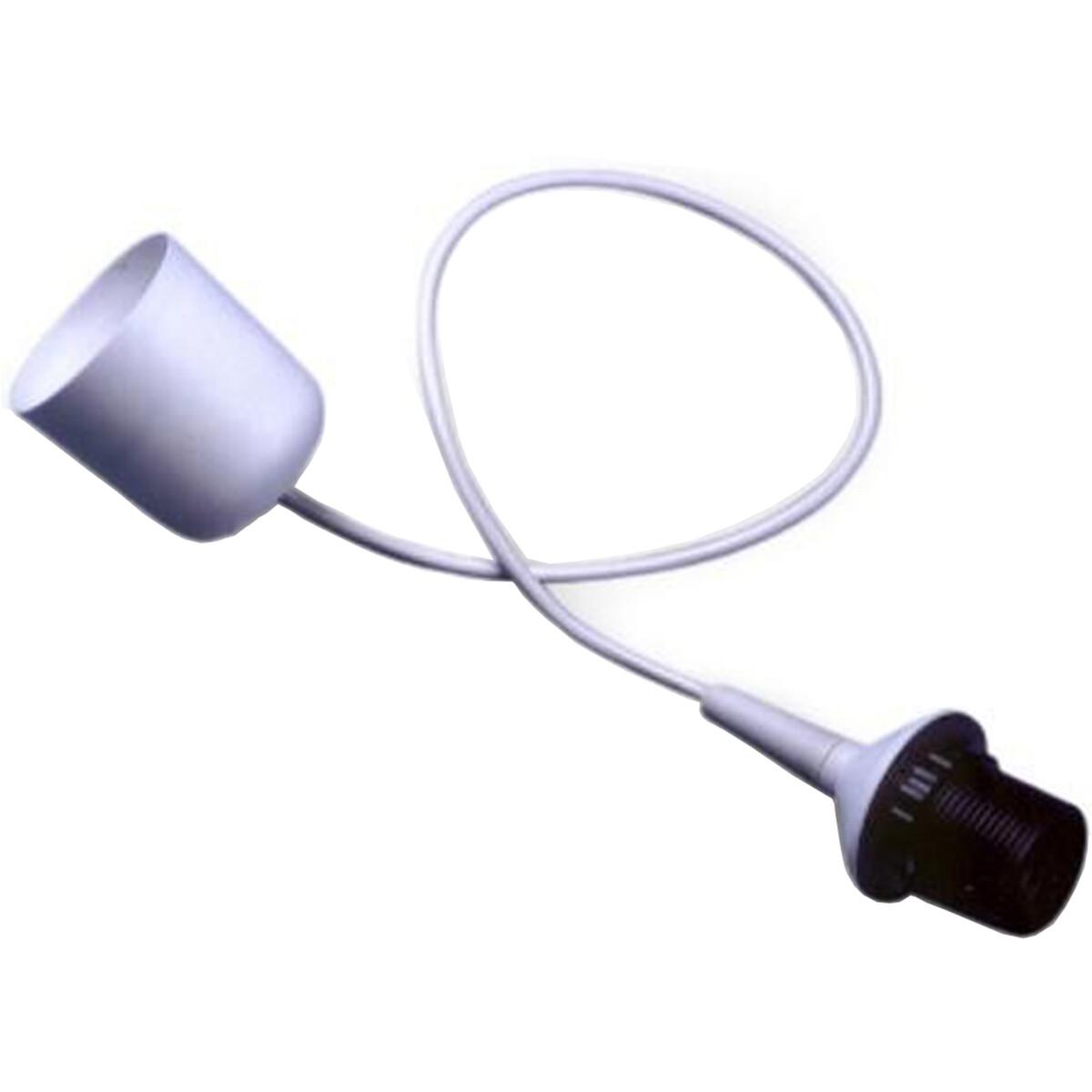 LED Hanglamp - Hangverlichting - Trion Ponton - E27 Fitting - 1-lichts - Rond - Mat Wit - Kunststof