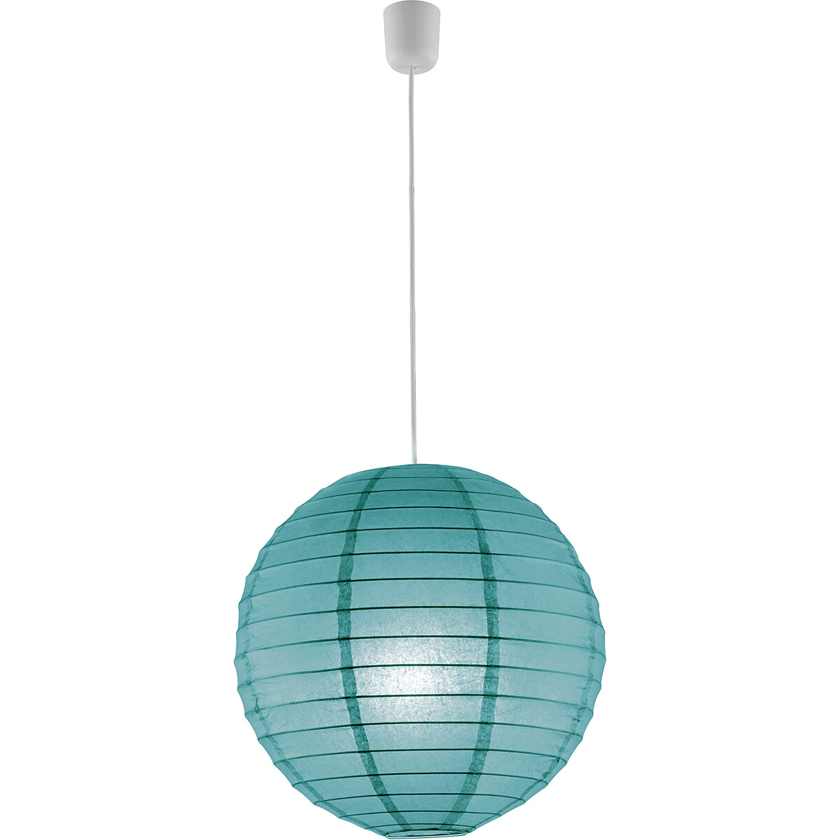LED Hanglamp - Hangverlichting - Trion Ponton - Rond - Mat Turquoise - Papier