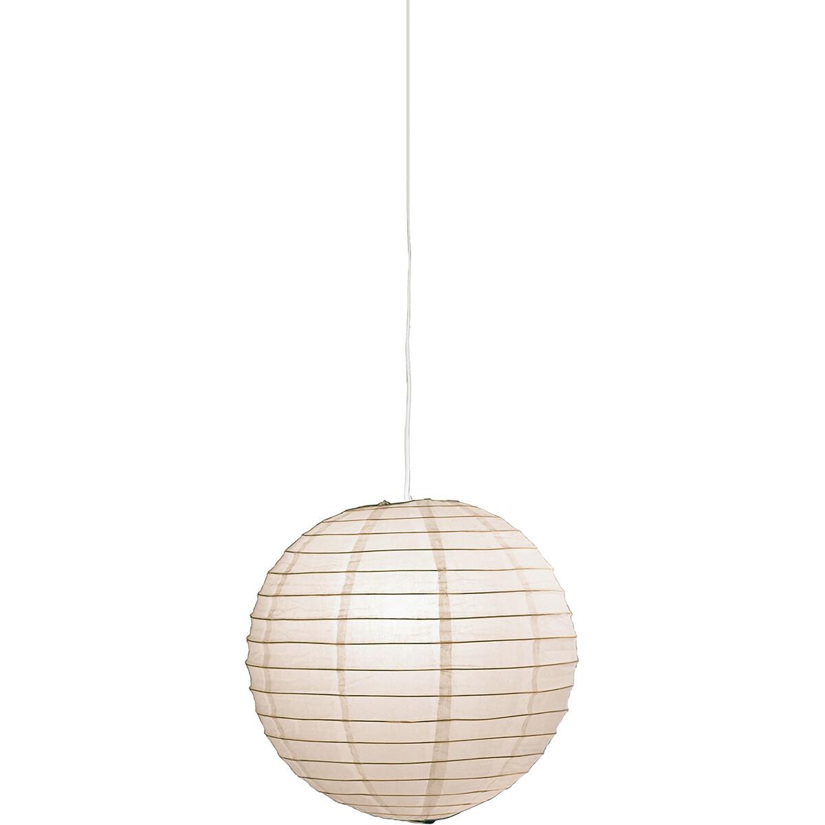 LED Hanglamp - Hangverlichting - Trion Ponton XL - Rond - Mat Wit - Papier