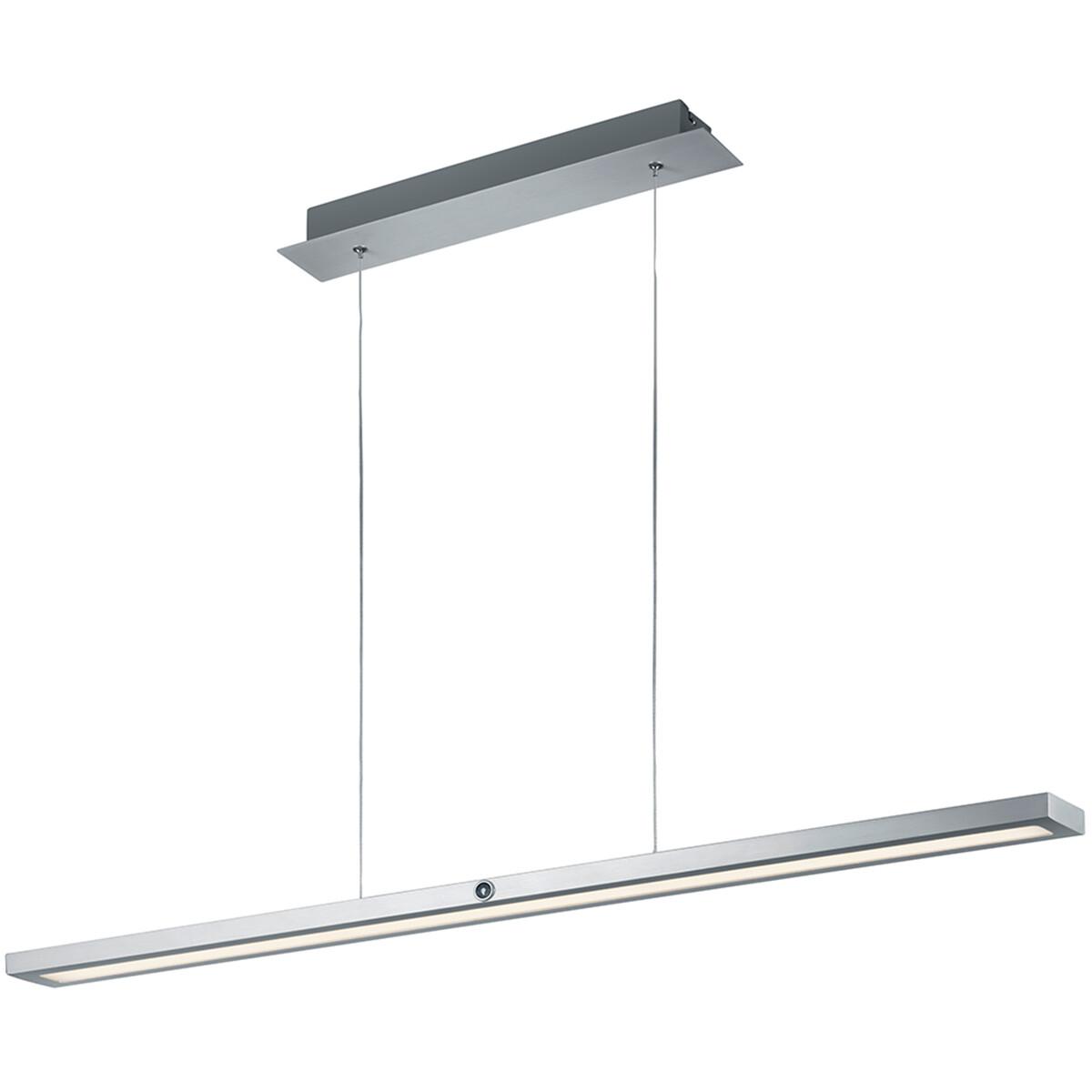 LED Hanglamp - Hangverlichting - Trion Sinas - 45W - Warm Wit 3000K - Rechthoek - Mat Grijs - Alumin