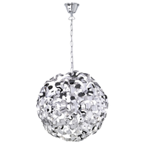 LED Hanglamp - Hangverlichting - Trion Siprus - G9 Fitting - Rond - Glans Chroom - Aluminium
