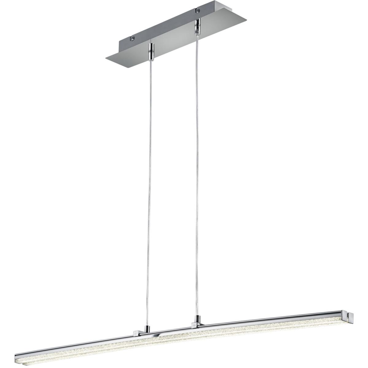 LED Hanglamp - Hangverlichting - Trion Stilo - 16W - Natuurlijk Wit 4000K - Rechthoek - Mat Chroom -